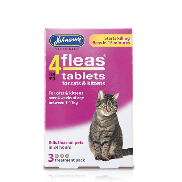 Johnsons 4fleas Tablets for Cats and Kittens (3 tablets)