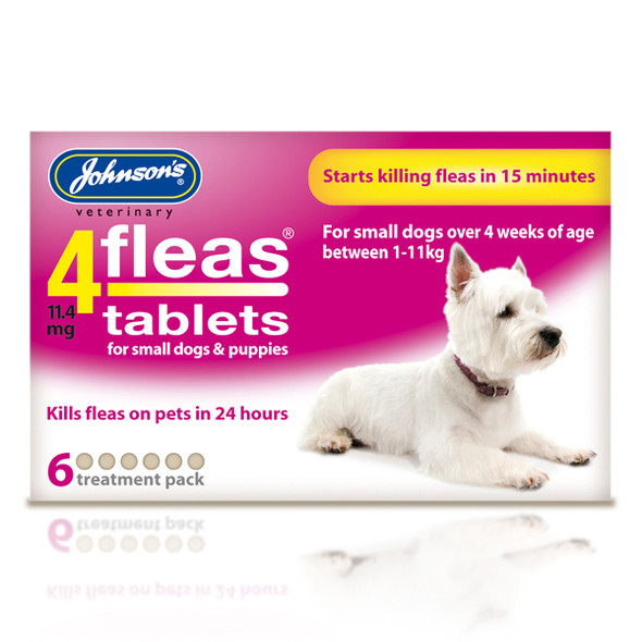 Johnsons 4fleas Tablets for Small Dogs and Puppies (6 tablets)
