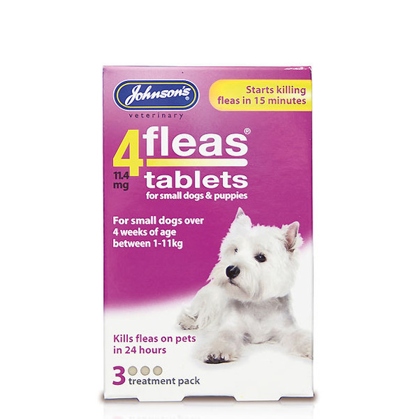 Johnsons 4fleas Tablets for Small Dogs and Puppies (3 tablets)
