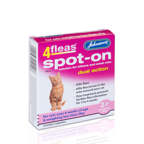 Johnsons 4fleas Spot-On Dual Action for Small Cats and Kittens