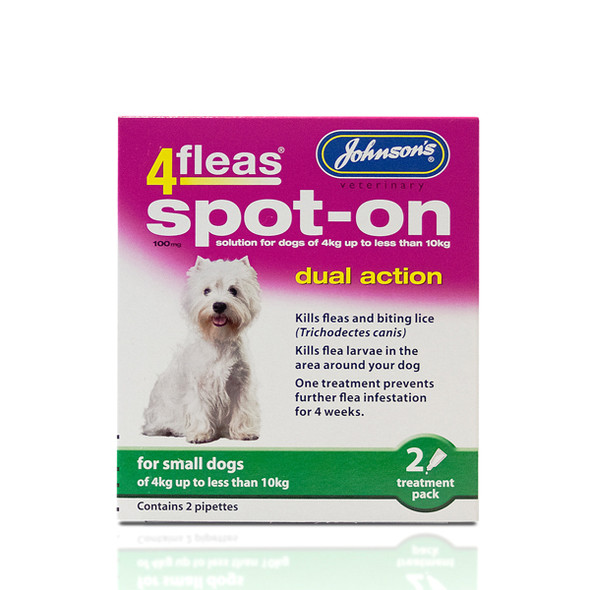 Johnsons 4fleas Spot-On Dual Action for Small Dogs