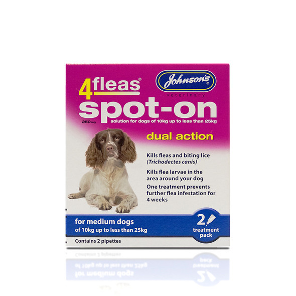 Johnsons 4fleas Spot-On Dual Action for Medium Dogs