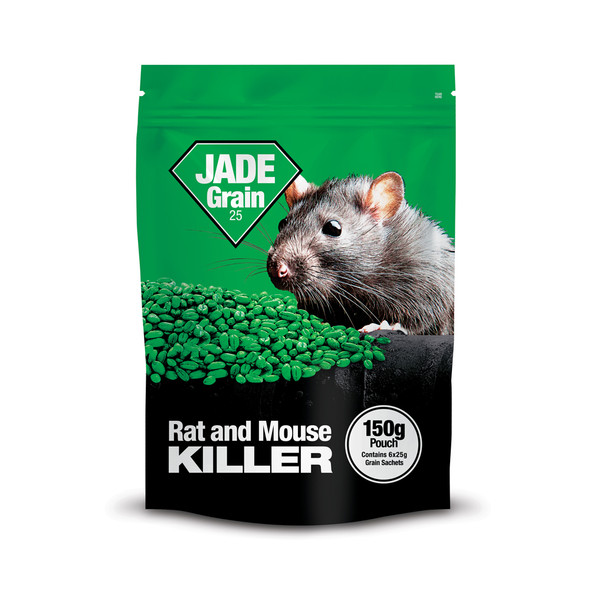 Lodi Jade Grain 25 Rat and Mouse Killer Poison Bromadiolone Pouch