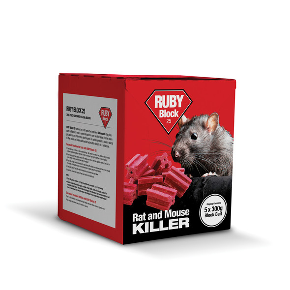 Lodi Ruby Block 25 Rat and Mouse Killer Poison Difenacoum (RBCPK)