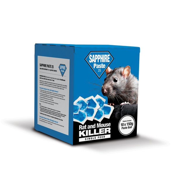 Lodi Sapphire Paste 25 Rat and Mouse Killer Poison Brodifacoum (SPCPK)