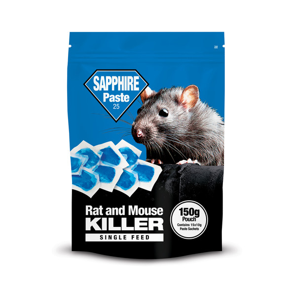 Lodi Sapphire Paste 25 Rat and Mouse Killer Poison Brodifacoum Pouch