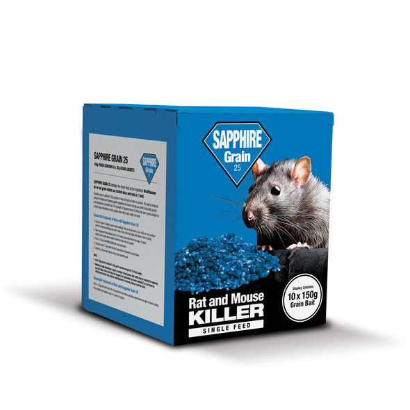 Lodi Sapphire Grain 25 Rat and Mouse Killer Poison Brodifacoum (SGRCPK)