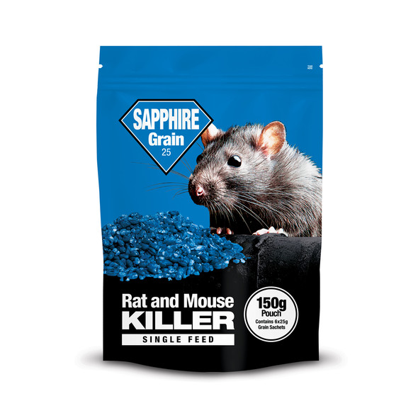 Lodi Sapphire Grain 25 Rat and Mouse Killer Poison Brodifacoum Pouch