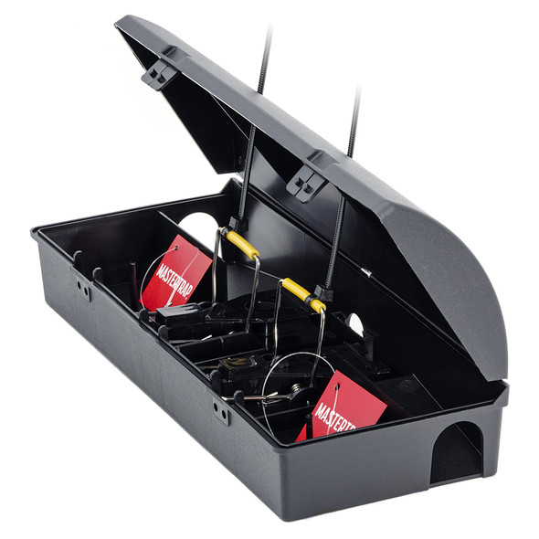 Mastertrap Mouse Bait Station with Two Snap Traps