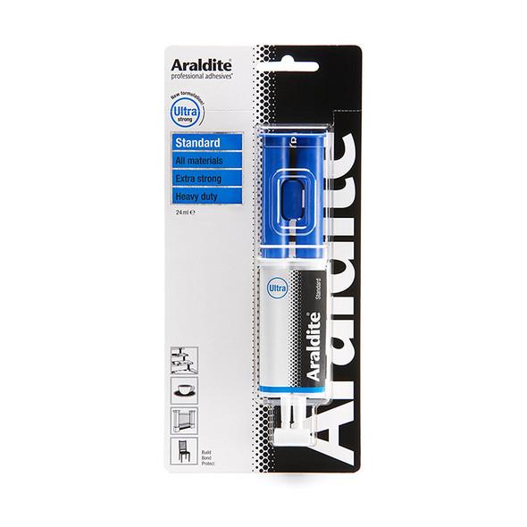 Araldite Epoxy Glue Standard 24ml Syringe Adhesive