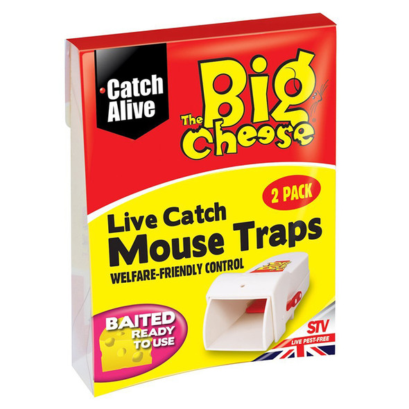 The Big Cheese Live Catch Mouse Trap 2 Pack (STV155)