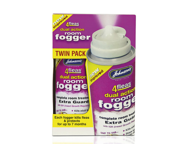 Johnsons 4Fleas Dual Action Room Flea Fogger Spray with IRG (D098)