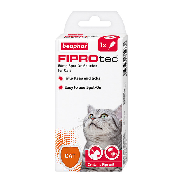 FIPROtec Fipronil Spot-on Solution for Cats (15518)