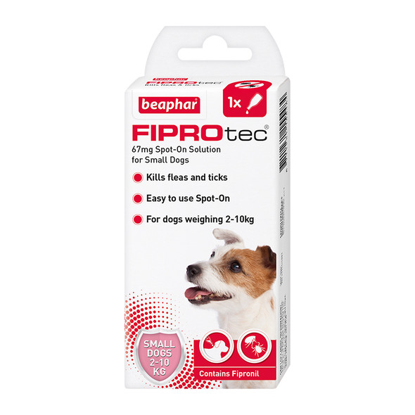 FIPROtec Fipronil Spot-on Solution for Small Dogs (15548)