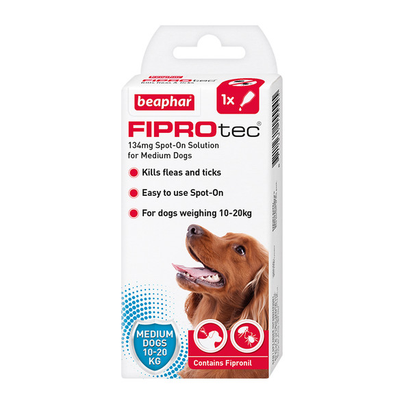 FIPROtec Fipronil Spot-on Solution for Medium Dogs