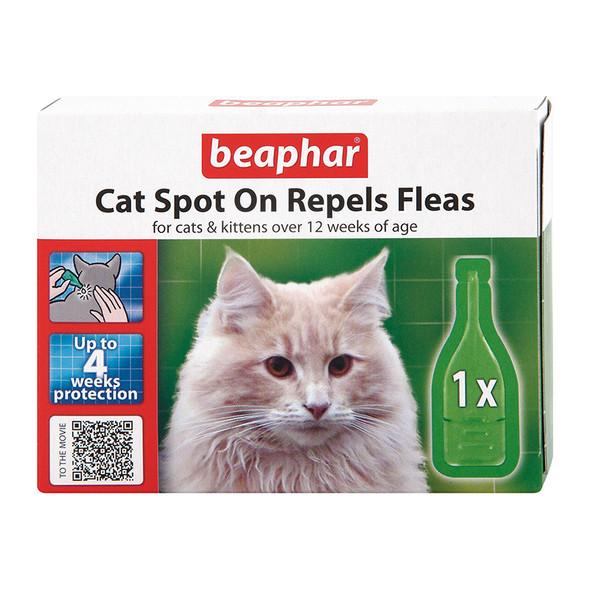 Beaphar Cat Spot On Flea Treatment 4 Weeks Protection