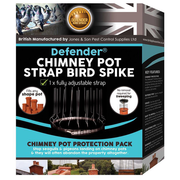 Defender Chimney Pot Strap Anti Bird Spike Pack