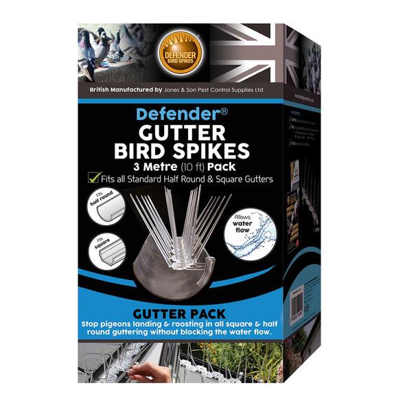 Defender Gutter Anti Bird Spikes 3 Metre Pack