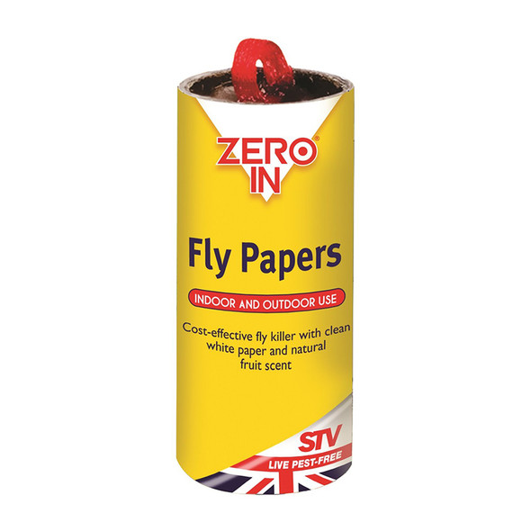 Zero In Sticky Fly Papers for Flies and Insects 4 Pack (Tube)