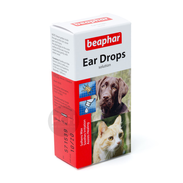 Beaphar Dog and Cat Ear Drops 15ml
