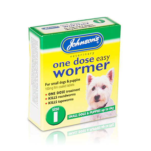 Johnson's One Dose Easy Wormer Tablets for Dogs Size 1 (B051)