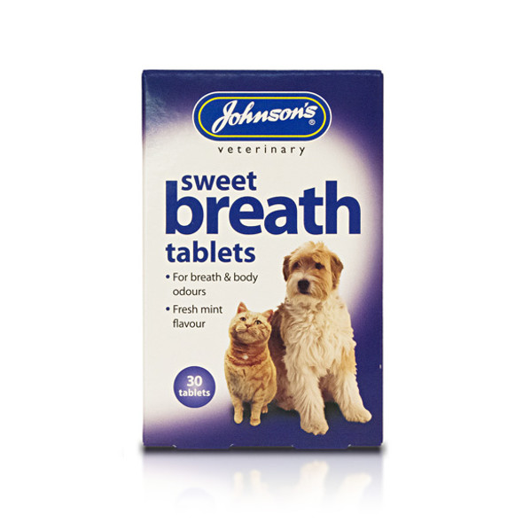 Johnson's Sweet Breath Tablets for Cats and Dogs