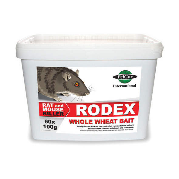 Pelgar Rodex Whole Wheat Bait Rat and Mouse Poison 50PPM 6kg