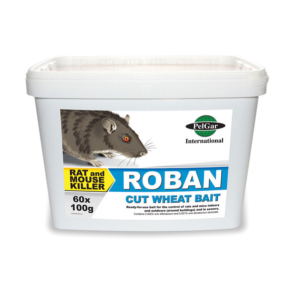 Pelgar Roban Cut Wheat Bait Rat and Mouse Poison 50PPM