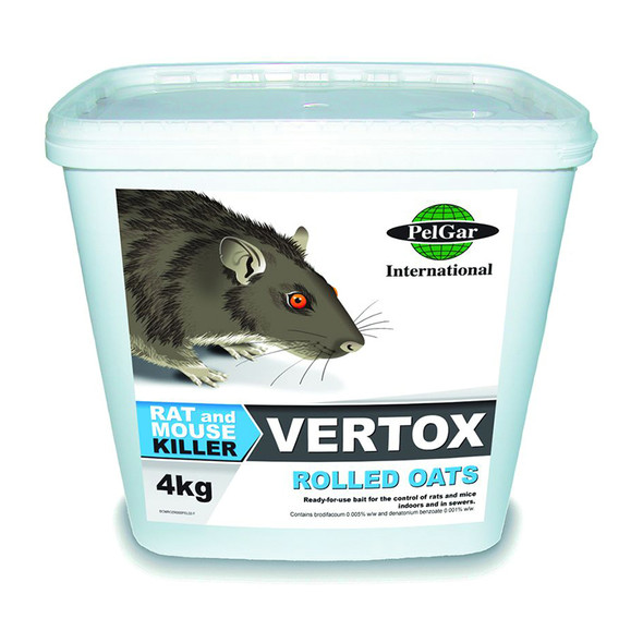 Pelgar Vertox Rolled Oats Rat and Mouse Poison 50PPM 4kg