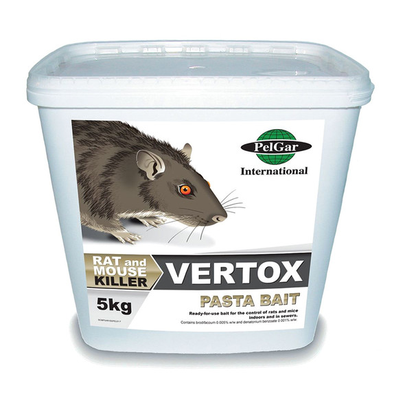 Pelgar Vertox Pasta Bait Rat and Mouse Poison 50PPM 5kg