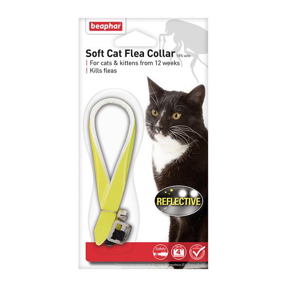 Beaphar Soft Cat Flea Collar Reflective Yellow