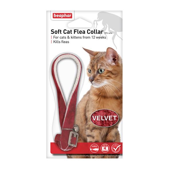 Beaphar Soft Cat Flea Collar Velvet Assorted Colours