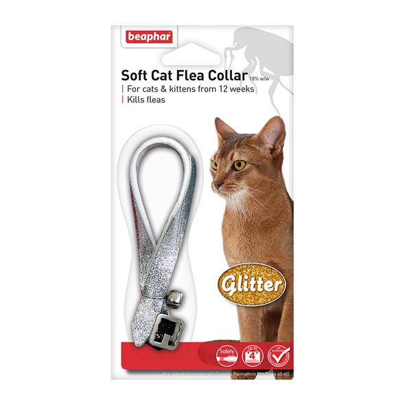 Beaphar Soft Cat Flea Collar Glitter Assorted Colours