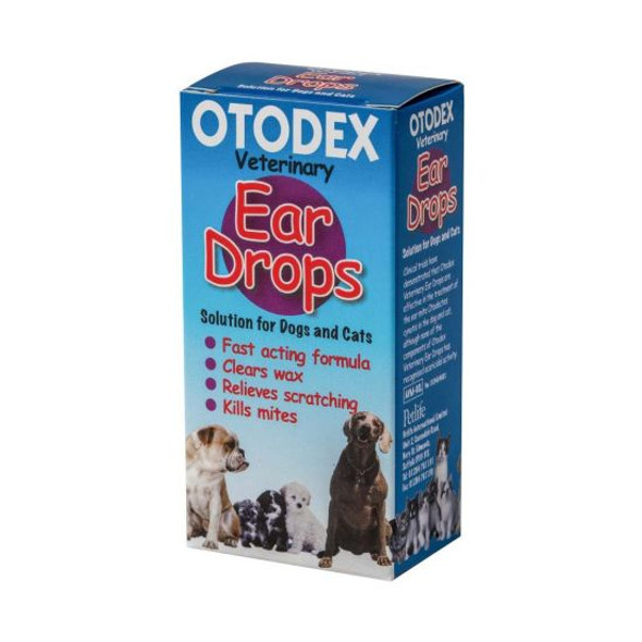 Otodex Ear Drops Solution for Dogs and Cats 14ml