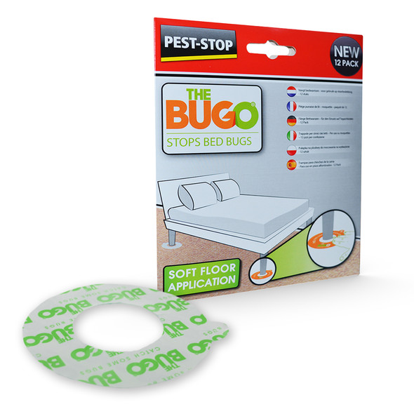Pest-Stop Bugo Bed Bug Monitoring Traps for Soft Floors