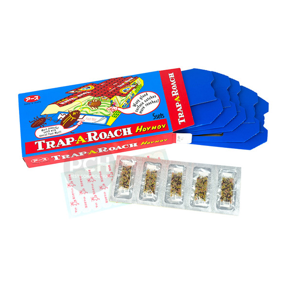 Hoy Hoy Trap-A-Roach Cockroach Traps with Food Bait 5 Pack