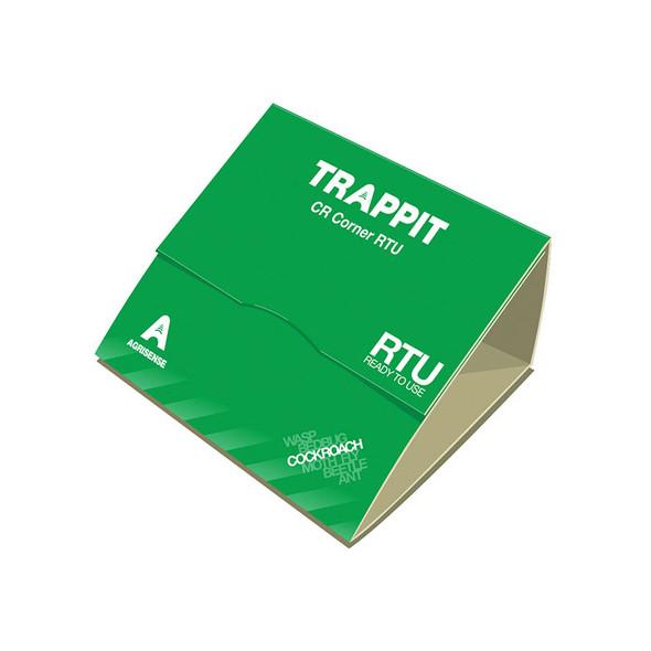 Trappit CR Corner RTU Pre-Baited Cockroach Glue Trap 3 Pack
