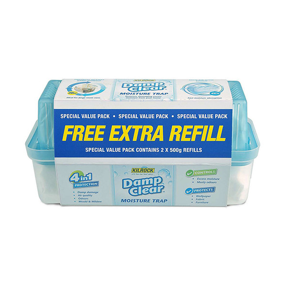 Kilrock Damp Clear Moisture Trap with Free Extra Refill