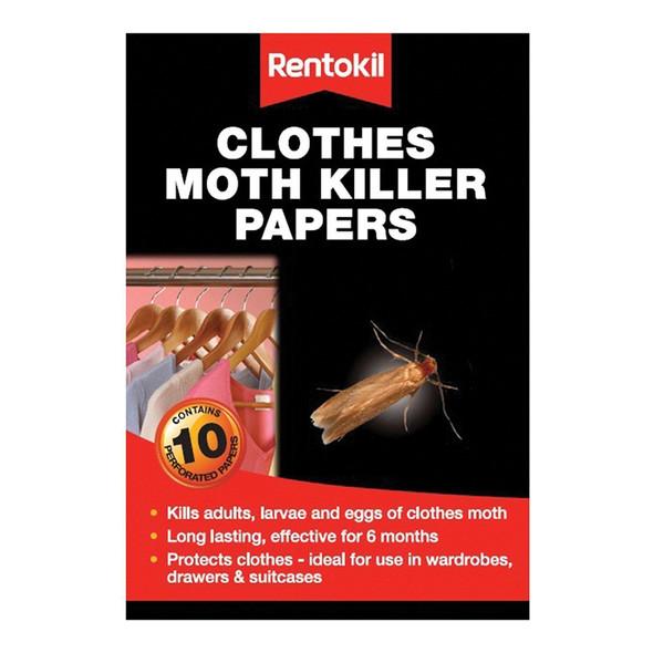 Rentokil Moth Killer Strips (Papers) 1x12 (FA115)