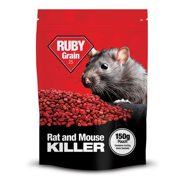 Lodi Ruby Grain Bait Rat and Mouse Killer Poison Difenacoum 150g