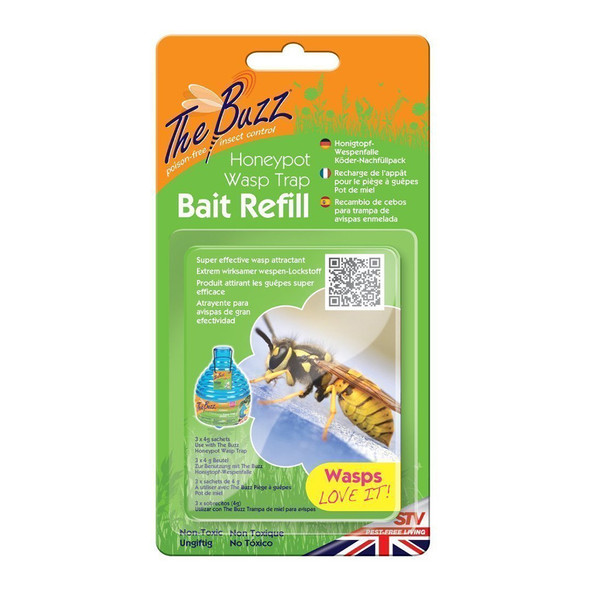 The Buzz Honeypot Wasp Trap Bait Refill