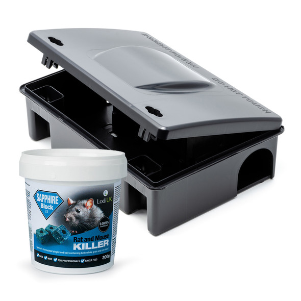 Lodi Sapphire Block Rat and Mouse Killer Poison with Bait Station