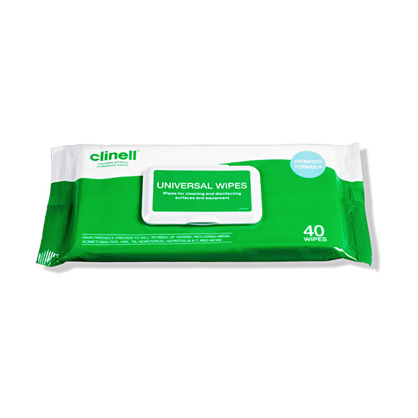 Clinell Universal Cleaning and Surface Disinfection Wipes 40