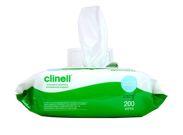 Clinell Universal Cleaning and Surface Disinfection Wipes 200