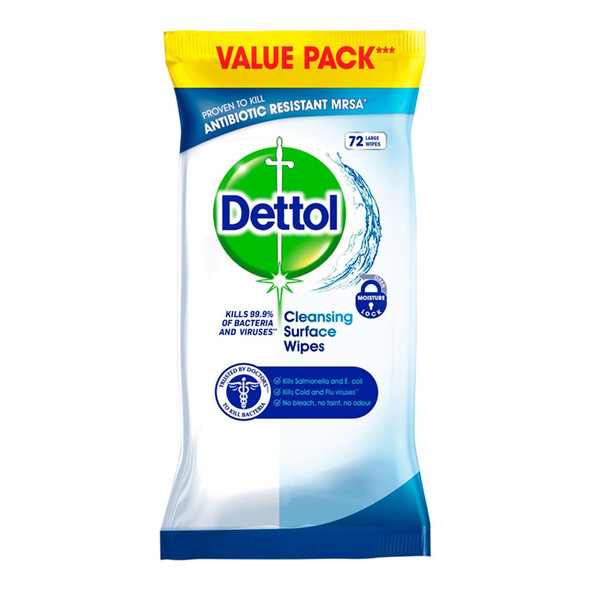 Dettol Cleansing Surface Wipes 72