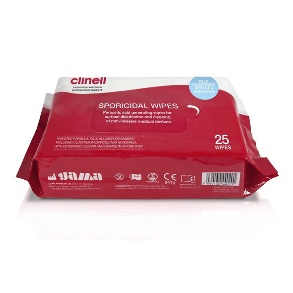 Clinell Sporicidal Wipes 25pc