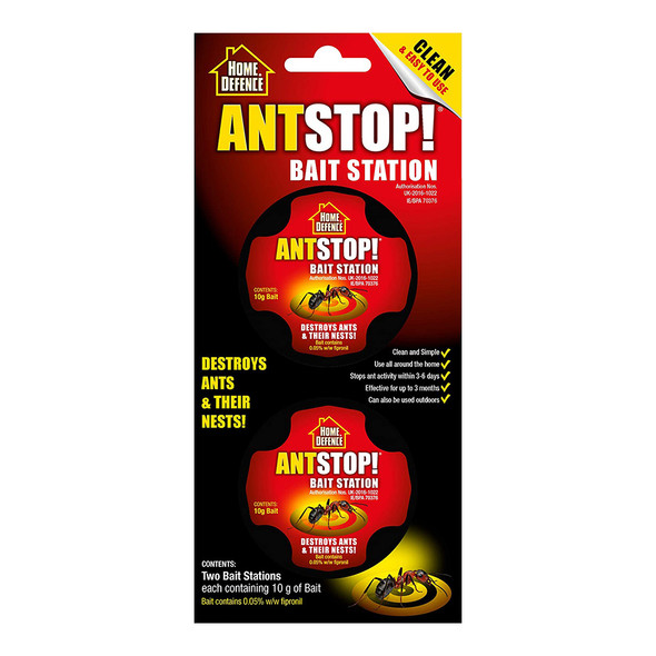 Ant Stop Bait Station Destroys Ants and Their Nests 2 Pack