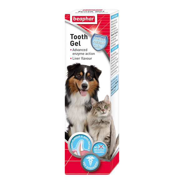 Beaphar Tooth Gel for Dogs and Cats No Brushing Required