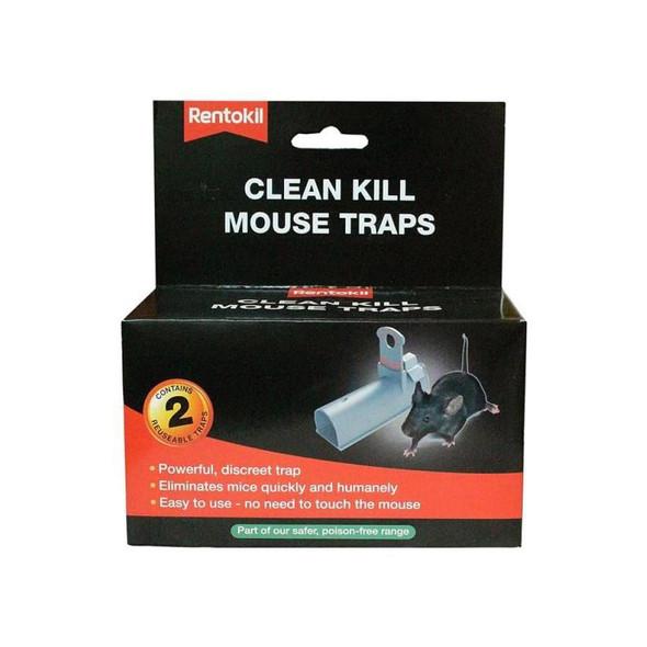 Rentokil Clean Kill Mouse Traps Twin Pack