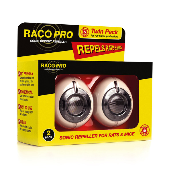 Raco Pro Ultrasonic Rat and Mouse Repeller Twin Pack